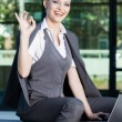 Business woman give you an Ok sign — Stock Photo #28221461
