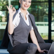 Business woman give you an Ok sign — Стоковое фото #28221461