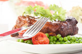 Pork spareribs on plate — Stock Photo