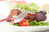 Pork spareribs on plate — Stock Photo
