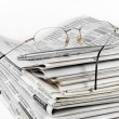 Stack of newspapers — Lizenzfreies Foto