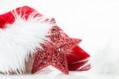Czerwony świątecznych dekoracji — Zdjęcie stockowe