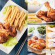 Stock Photo: Collage of chicken drumstick