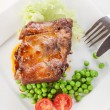 Pork spareribs on plate — Stock Photo #30823147