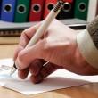 Signing document — Stock Photo
