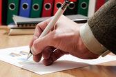 Podpisanie dokumentu — Zdjęcie stockowe