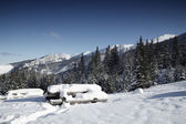 Snowy view in Tatra Mountains — Stock Photo