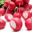 Fresh radish on white background — Stock Photo