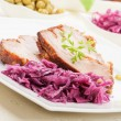 Stock Photo: Roast pork. Selective focus.