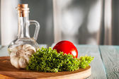 Raw vegetables on cutting board — Stock Photo