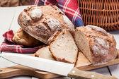 Sliced rye bread — Stock Photo