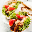 Burrito. Tortilla with meat and beans — Stock Photo