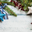 Stock Photo: Christmas tree with decoration