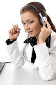 Beautiful customer support — Stock Photo