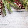 Christmas tree with decoration — Stockfoto