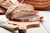 Sliced rye bread — Foto Stock