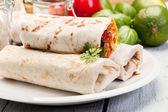 Mexican burritos — Stock Photo