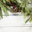 Christmas tree with decoration — Foto Stock