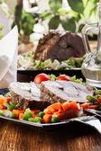 Pork roast with vegetable — Stock Photo