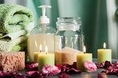 SPA still life: aromatherapy candle — Stock Photo