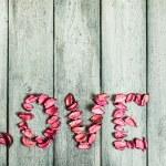 Caption word love — Stock Photo