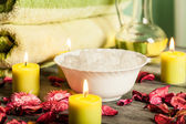 SPA still life: aromatherapy candle and other — Stock Photo