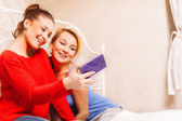 Two girls doing themselves photo — Stock Photo
