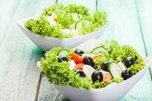 Verse groenten salade met kaas — Stockfoto