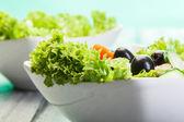 Zeleninový salát se sýrem — Stock fotografie