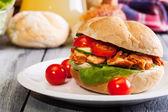 ケバブ サンドイッチ — ストック写真