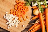 Fresh chopped vegetables — Stock Photo