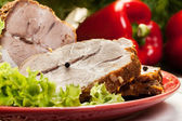 Slices of roasted shoulder — Stock Photo