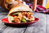 Kebab sandwich — Stock Photo