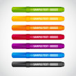 Set of bright color markers  — Stock Vector
