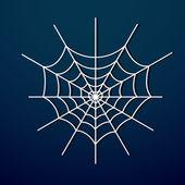 Vector spider web on dark background. — Stock Vector