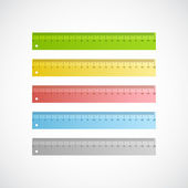 Vector colorful rulers — Stock Vector