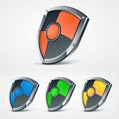 Set of vector shields. — Stock Vector