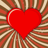 Vector Valentine background with red heart. — Stockvektor