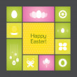 Vector background for Happy Easter. — Stock Vector
