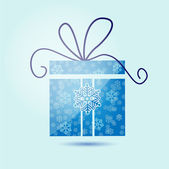 Christmas gift box with snowflakes. — Stock Vector