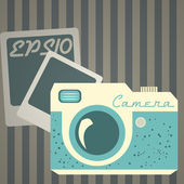 Vector illustration of retro photo camera. — Stockvektor
