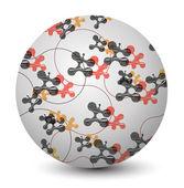 Vector abstract sphere. — Stock Vector