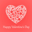 Vector card for Valentine's Day with heart. — 图库矢量图片