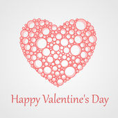 Vector card for Valentine's Day with heart. — Stock Vector