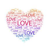 Heart of love. — Vector de stock