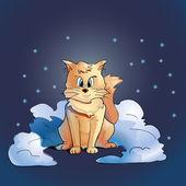 кошка сидит на снегу. — Cтоковый вектор