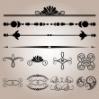 Stock Vector: Vector set of vintage elements.
