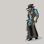 Western cowboy. — Stock Vector
