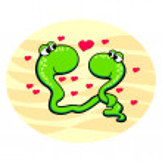 Snakes in love. — Stock Vector