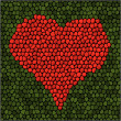 Mosaic heart. — Stock Vector #17697597